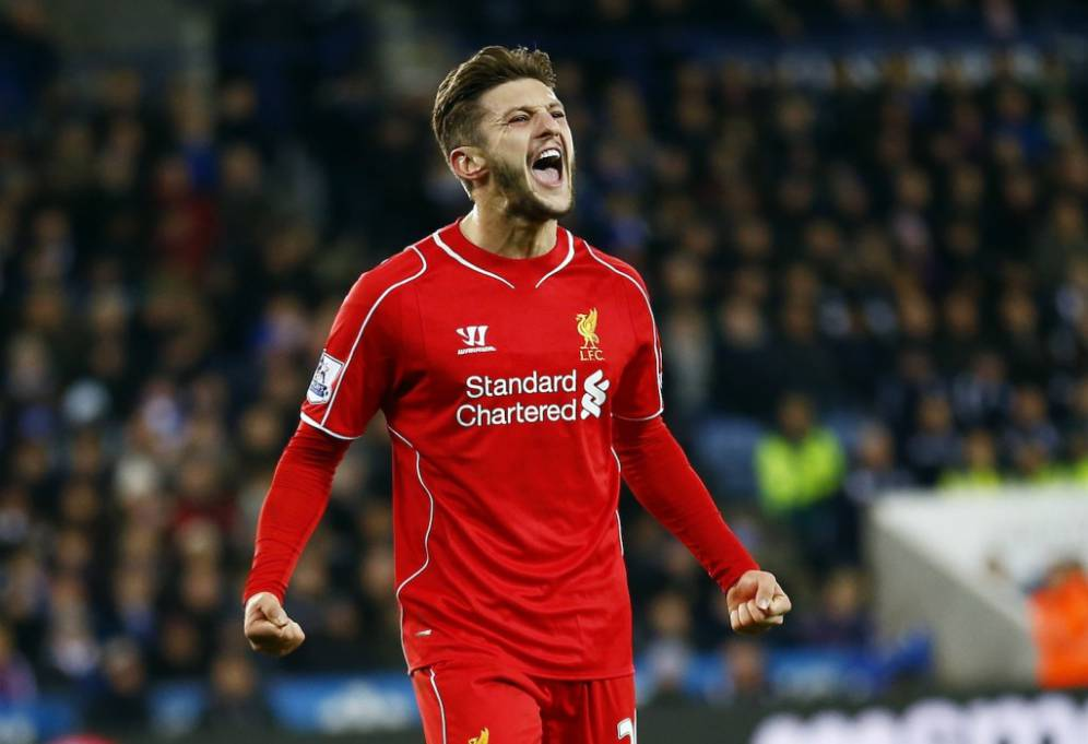 """Liverpool's Adam Lallana celebrates after scoring during their English Premier League soccer match against Leicester City at the King Power Stadium in Leicester, central England, December 2, 2014.  REUTERS/Darren Staples (BRITAIN - Tags: SPORT SOCCER) NO USE WITH UNAUTHORIZED AUDIO, VIDEO, DATA, FIXTURE LISTS, CLUB/LEAGUE LOGOS OR """"LIVE"""" SERVICES. ONLINE IN-MATCH USE LIMITED TO 45 IMAGES, NO VIDEO EMULATION. NO USE IN BETTING, GAMES OR SINGLE CLUB/LEAGUE/PLAYER PUBLICATIONS. FOR EDITORIAL USE ONLY. NOT FOR SALE FOR MARKETING OR ADVERTISING CAMPAIGNS"""